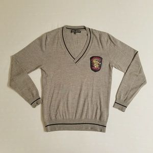 Frankie Morello 100% Virgen Wool V-neck Sweater